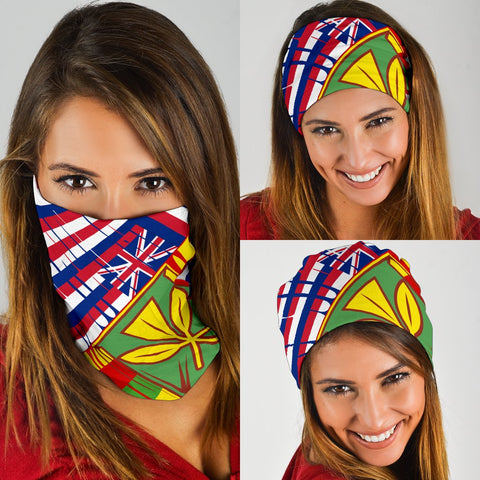 Image of Hawaii Two Flag Bandana 3-Pack - White -  AH - J4 - Alohawaii