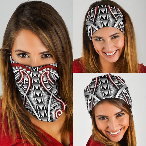Image of Hawaii Polynesian Tattoo Bandana 3 - Pack - White - AH - J5 - Alohawaii