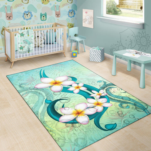 Image of Hawaii Plumeria Area Rug - AH J4 - Alohawaii