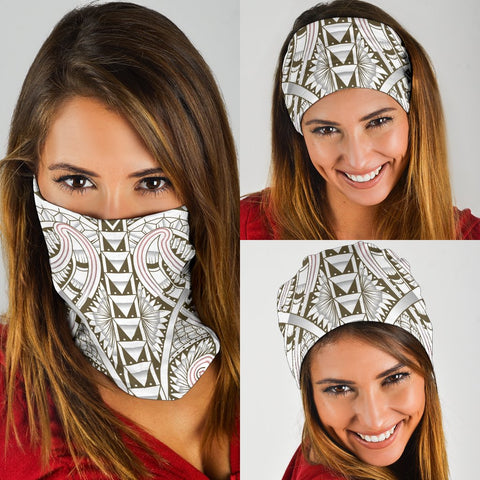 Hawaii Polynesian Tattoo Bandana 3 - Pack - Brown - AH - J5