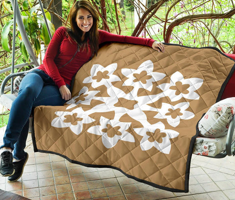 Hawaiian Premium Quilt Royal Pattern - Gold - A1 Style