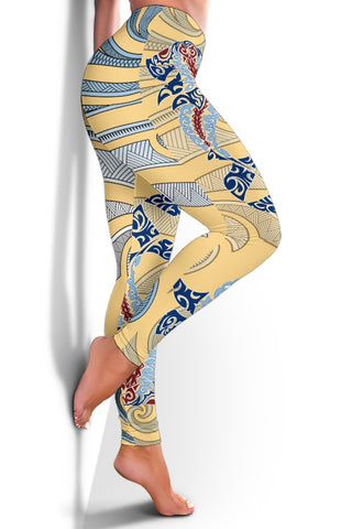 Image of Hawaii Fish Polynesian Women's Leggings - AH