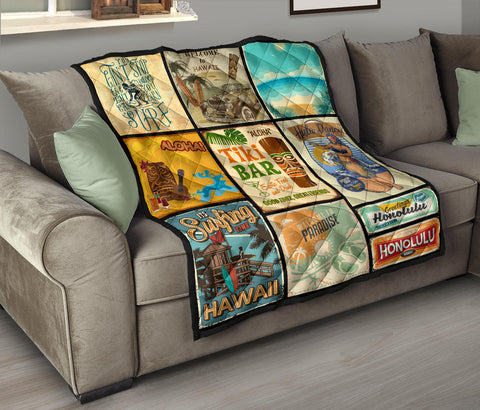 Hawaii Culture Vintage Premium Quilt - AH J2 - Alohawaii