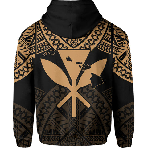 Image of Hawaii Polynesian Limited Hoodie - Tab Style Gold - AH - J4