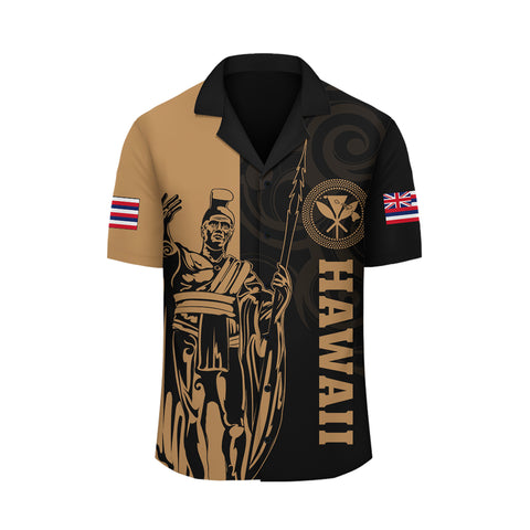 Hawaii King Polynesian Hawaiian Shirt - Lawla Style Gold - AH - J4