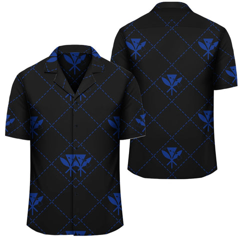 Image of Kanaka Maoli Hawaiian Shirt Regal Blue