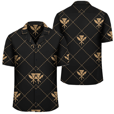 Image of Kanaka Maoli Hawaiian Shirt Regal Gold