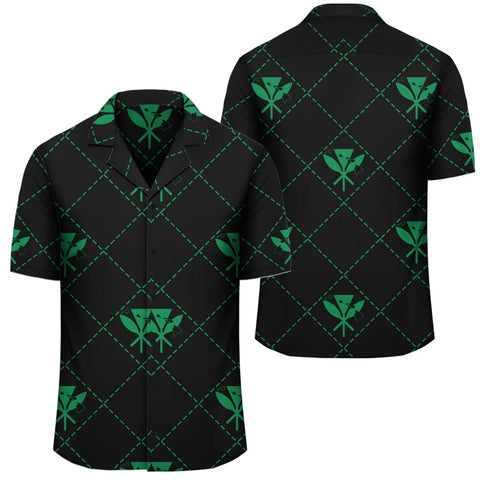 Image of Kanaka Maoli Hawaiian Shirt Regal Green