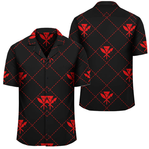 Image of Kanaka Maoli Hawaiian Shirt Regal Red