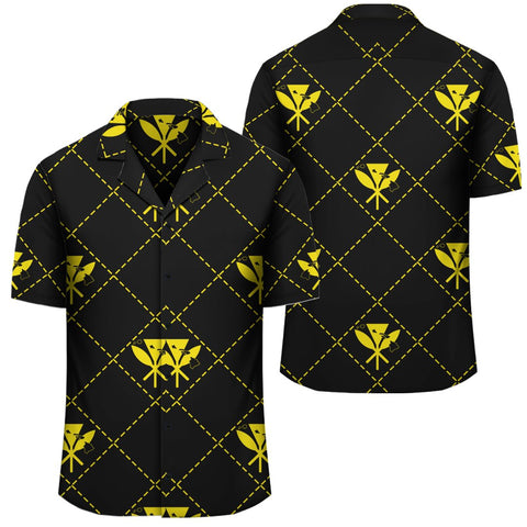 Image of Kanaka Maoli Hawaiian Shirt Regal Yellow