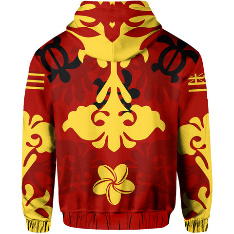 Hawaiian Quilt Style Pullover Hoodie AH
