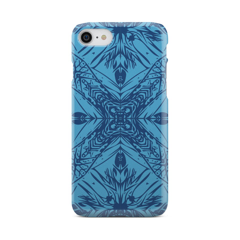 Polynesian Phone Case Blue - AH - J1 - Alohawaii