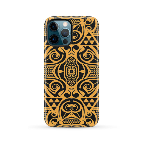 Polynesian Tough Case Yellow Black - AH - J1 - Alohawaii