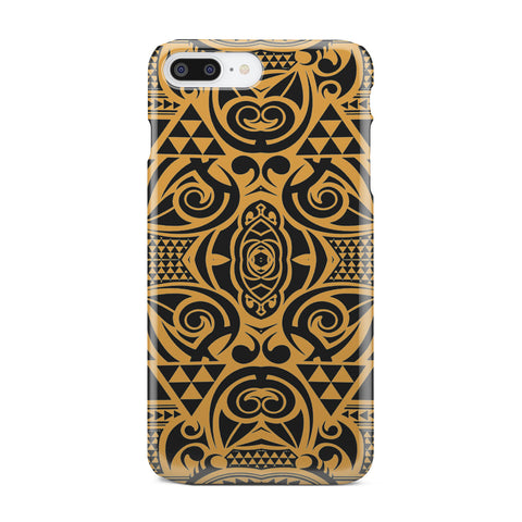 Polynesian Phone Case Yellow Black - AH - J1 - Alohawaii