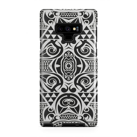 Polynesian Tribal Tough Case Black White - AH - J1 - Alohawaii