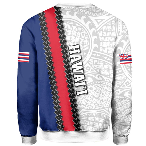 Hawaii Kakau Flag Polynesian Sweat Shirt - AH - J4
