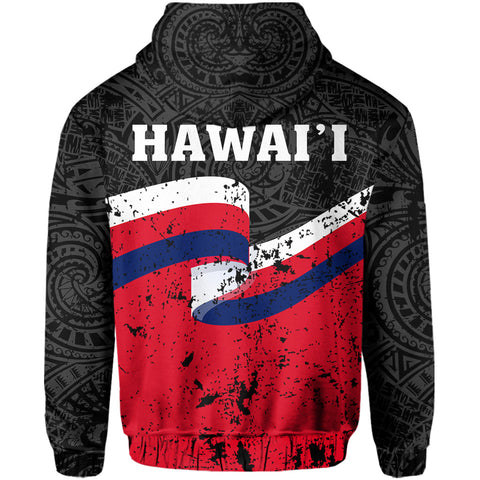 Hawaii Flag Polynesian Hoodie (Zip-up) - AH - J4