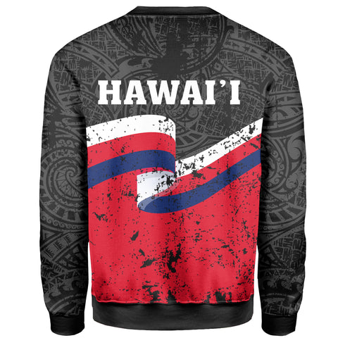 Hawaii Flag Polynesian Sweat Shirt - AH - J4