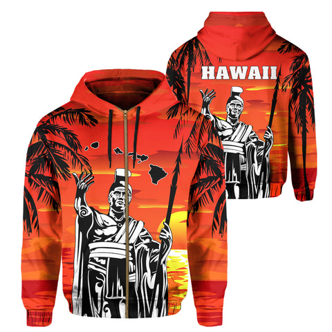 Image of Hawaii King Summer Sunset Hoodie (Zip-up)