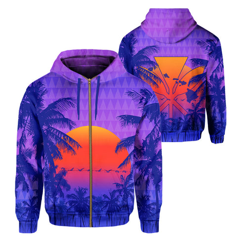 Image of Hawaii Summer Kanaka Hoodie (Zip-up)