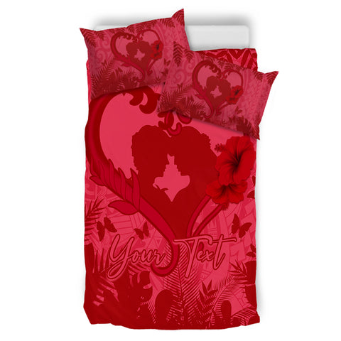 (Personalized) Hawaiian Lover Hibiscus Bedding Set