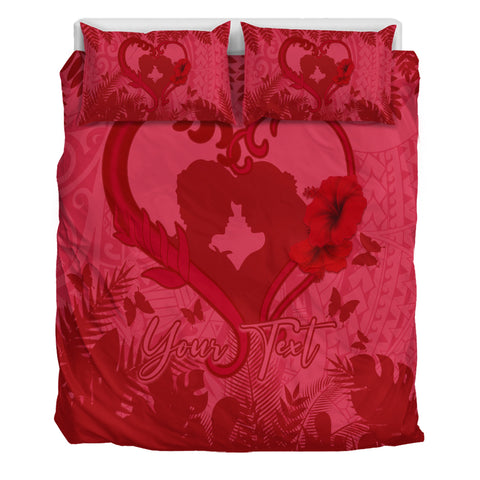 (Personalized) Hawaiian Lover Valentine's Day Bedding Set