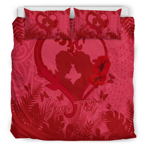 Image of (Customed) Hawaiian Lover Valentine's Day Bedding Set