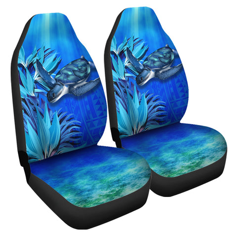 Image of Hawaii Blue Turtle Paradise Car Seat Cover - Breath Ocean