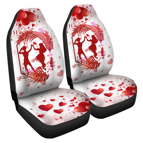 Hawaii Hula Dance Couple Love Valentine Car Seat Cover - Cud Style