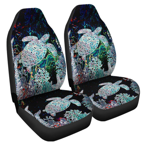 Hawaii Turtle Corals Shell Background Car Seat Covers