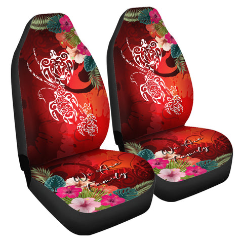 Hawaii Turtle Family Car Seat Covers - We Are Family