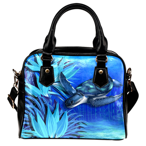 Hawaii Blue Turtle Paradise Shoulder Handbag - Breath Ocean