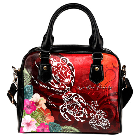 Hawaii Turtle Family Shoulder Handbag - We Are Family
