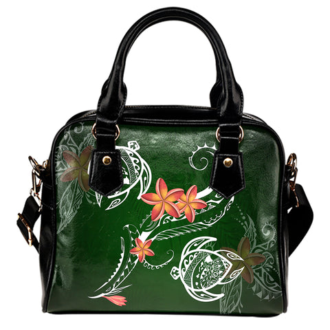 Hawaii Turtle Plumeria Polynesian Handbag - Luck Style