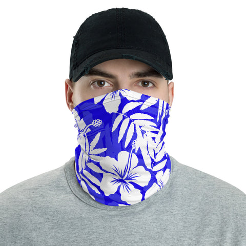 Traditional Hibiscus Blue Unisex Neck Gaiter - AH J0 - Alohawaii