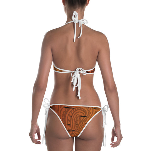 Hawaii Sunset Coat Of arm Polynesian Bikini - AH J4 - Alohawaii