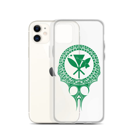 Kanaka Maoli Iphone Case The Eyes Green