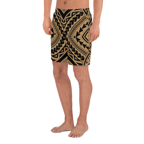 Image of Polynesian Tradition Gold Men's Athletic Long Shorts - AH - J1 - Alohawaii