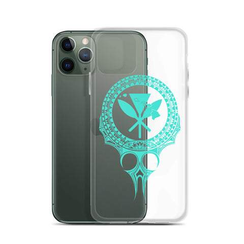 Image of Kanaka Maoli Iphone Case The Eyes Turquoise AH J1 - Alohawaii