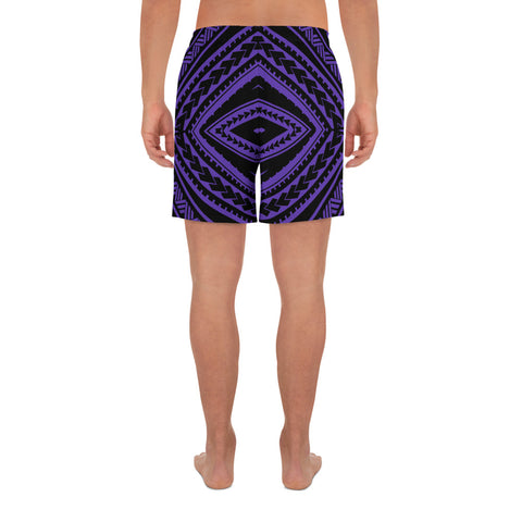 Polynesian Tatau Violet Men's Athletic Long Shorts - AH - J1 - Alohawaii
