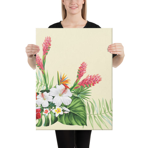 Wonderful Hibiscus Flower Canvas - AH - J1 - Alohawaii
