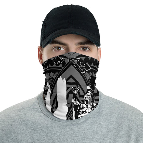 Image of Hawaiian Bandana Map HI King Kamehameha Anchor Neck Gaiter - AH - White - J5 - Alohawaii