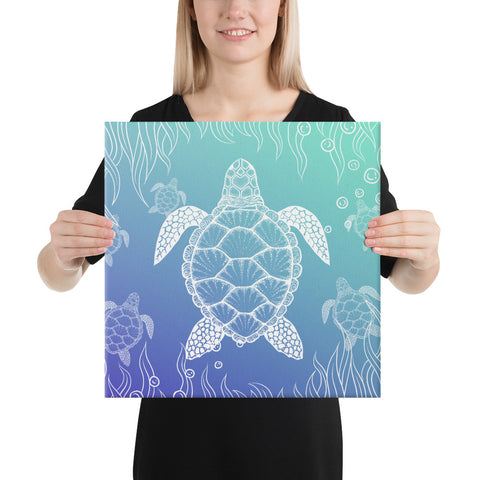 Turtle Gardiant Background Canvas - AH - J1 - Alohawaii