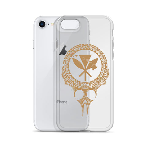 Image of Kanaka Maoli Iphone Case The Eyes Gold AH J1 - Alohawaii