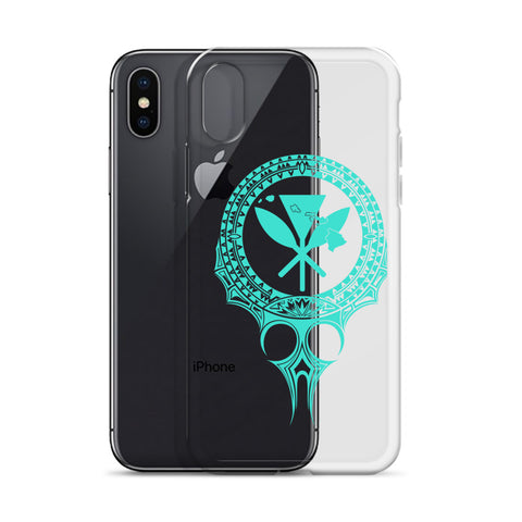 Kanaka Maoli Iphone Case The Eyes Turquoise AH J1