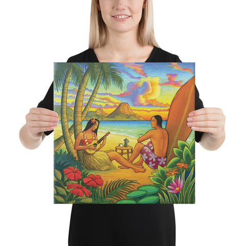 Sing A Song On A Beach Canvas - AH - J1 - Alohawaii