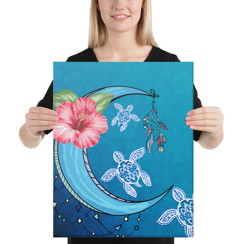 Turtle Moon Dream Canvas - AH - J1 - Alohawaii