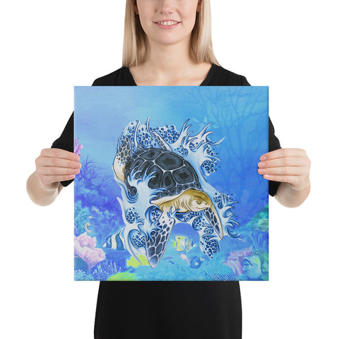 Turtle Cool Canvas - AH - J1 - Alohawaii