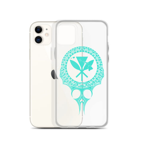 Kanaka Maoli Iphone Case The Eyes Turquoise