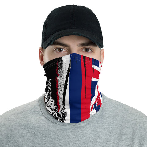 Image of Hawaii King Flag Neck Gaiter  - AH - J4 - Alohawaii